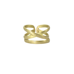 Linear X Ring - Gold