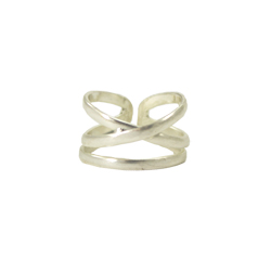 Linear X Ring - Silver