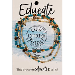 Cause Connection Bracelet - educate (cobalt)