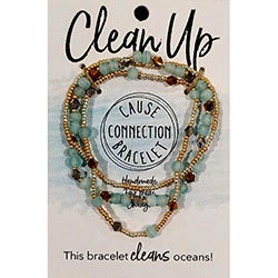 Cause Connection Bracelets - Clean Up (turquoise)