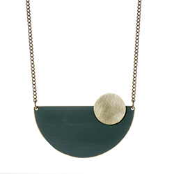 Forest Green Semi Circle Necklace