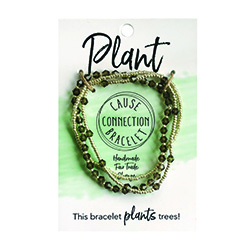 Cause Connection Bracelet - Plant (Green/Gray)