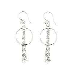 Fringed Circle Earrings