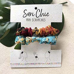 Sari Chic Mini Scrunchies, Set of 2