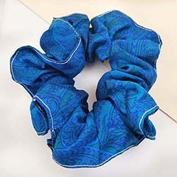 Sari Silk Scrunchie - Medium