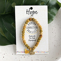 Kantha Connection Bracelet - Hope (Yellow)