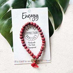 Kantha Connection Bracelet - Energy (Red)