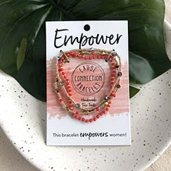 Cause Connection Bracelet - Empower (red)