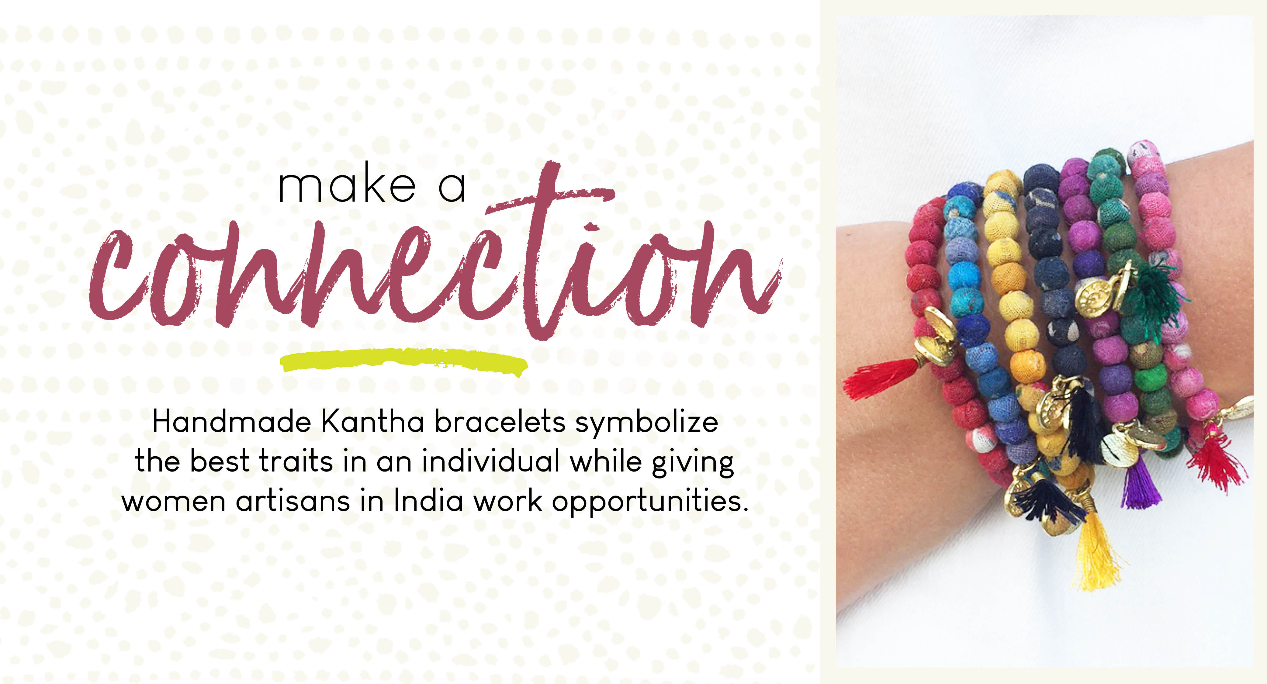 World Finds Kantha Connection Bracelets